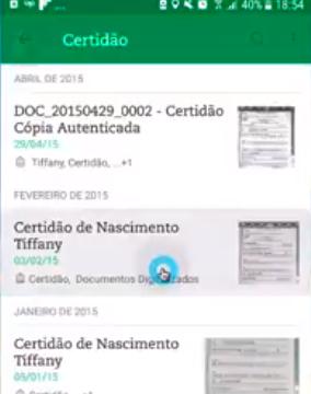 Digitalizar Documentos - Digitalizando a certidão de nascimento dos filhos