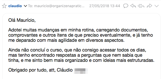 Depoimento Claudio Curso Evernote Iniciantes