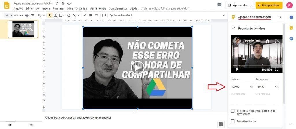 Dicas do Google Drive - Como cortar vídeos no Google Slides