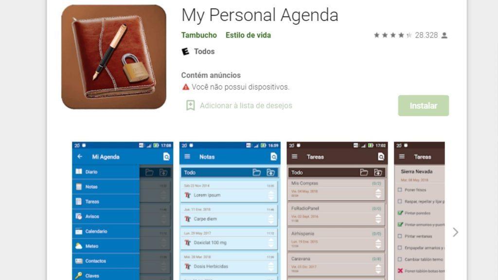 Apps de Agenda - My Personal Agenda