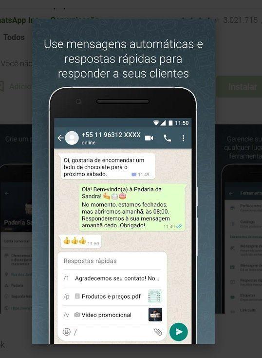 Mensagens Rápidas - WhatsApp Business