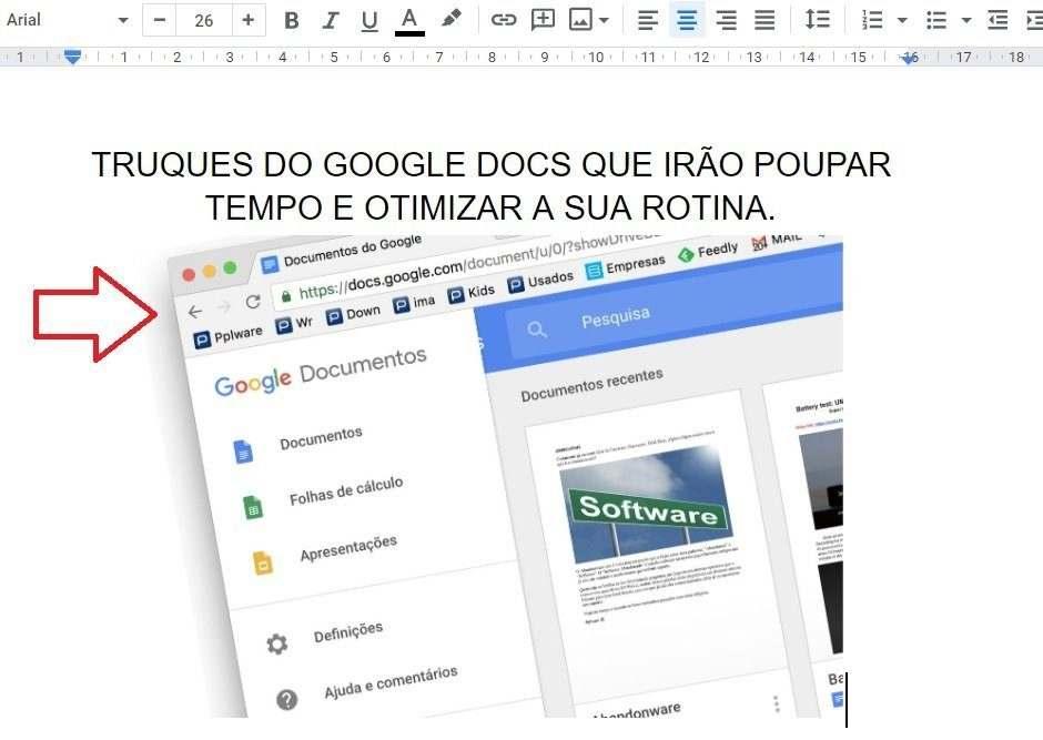 Truques do Google Docs para poupar tempo