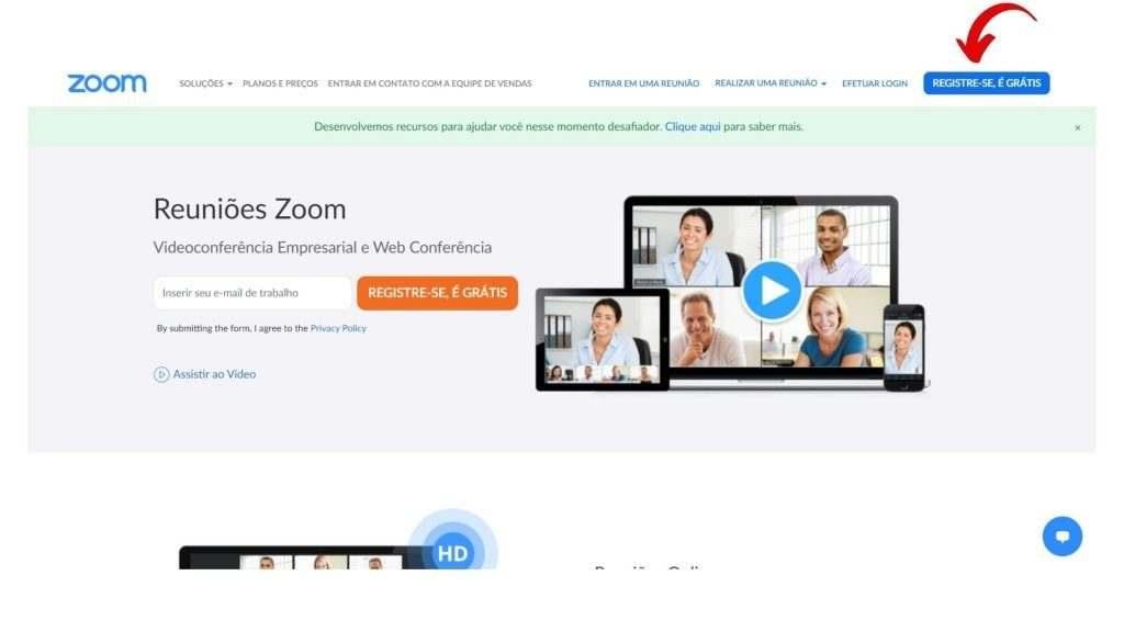 como instalar o Zoom Meetings