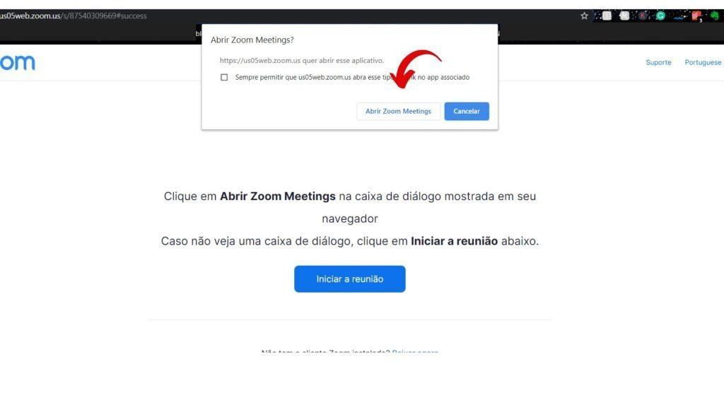 iniciar reunião - como usar o Zoom